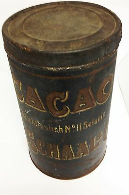 Genuine Antique L.schaal & Cie Cacao Tin.great Unique Collectable