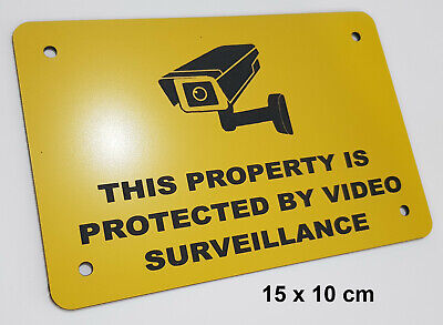 SECURITY SIGN - VIDEO SURVEILLANCE, CCTV- small YELLOW/BLACK