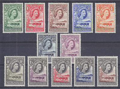 Bechuanaland Protectorate Sc 154-165 MLH. 1955-1958 QEII & Cattle cplt VF