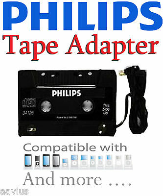 Philips Best Cassette Tape Adapter for iPhone 4 4G S 3G 4S Sprint Verizon AT&T