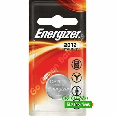 1 x Energizer 2012 CR2012 3V Lithium Coin Cell Battery DL2012 KCR2012, BR2012
