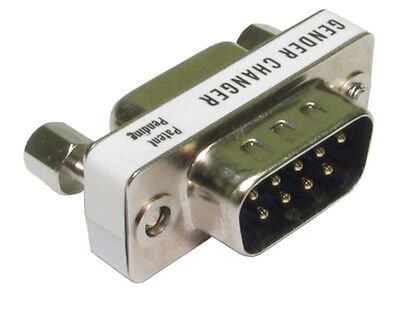 9 Pin Serial RS232 male to male gender bender changer Convert Female To Pins