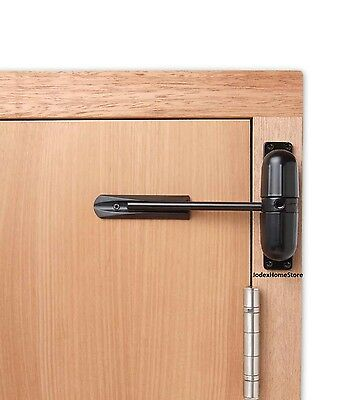 Surface Mounted Black Spring Door and Gate Closer Indoor or Outdoor use