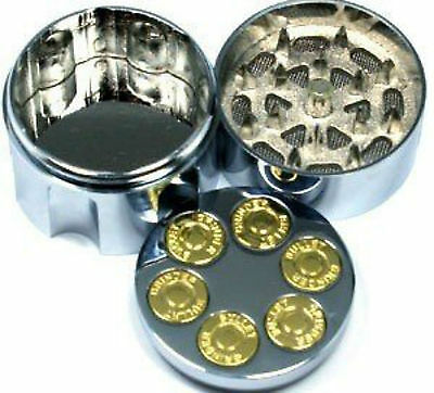 3 Part Bullet Herb Grass Tobacco Magnetic Metal Pollinator Grinder Crusher