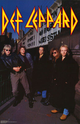 Poster: Music:   Def Leppard - Group  Posed  -  Free Shipping !  #6101    Rw12 G