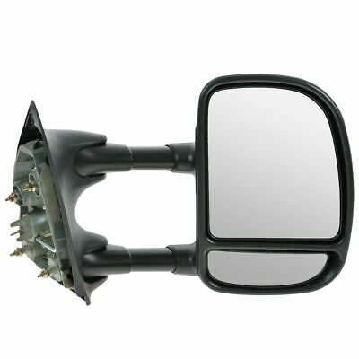 Towing Manual Side View Mirror Passenger Right RH for 99-04 Super Duty Truck