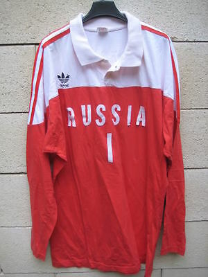 VINTAGE maillot volleyball porté RUSSIE Russia Mockba match worn shirt ADIDAS