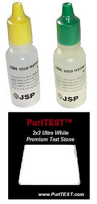 Gold Test Acid Tester Kit 10k 14k Testing Stone Detect Metals Scrap Jewelry JSP