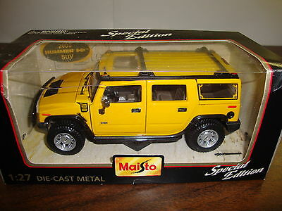 "2003 Hummer H2 SUV---Special Edition---1:27 Scale Diecast---Maisto---6 1/2"" Long"