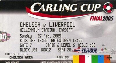 2005 CARLING CUP FINAL TICKET - LIVERPOOL v CHELSEA