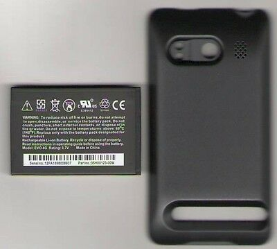 Lot 3 New Battery For Htc Evo 4G Sprint Extended + Door 3500Mah Usa