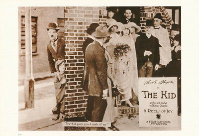 POSTER :MOVIE REPRO: CHARLIE CHAPLIN in THE KID - FREE SHIPPING  #6275  LW27 D