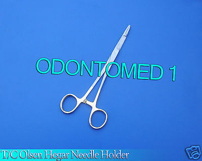 "6 T/c O.r Grade Olsen Hegar Needle Holder 7.5"" Surgical W/ Tungsten Carbide Insr"
