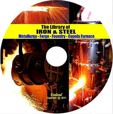 Metal Work Forge Foundry Metallurgy Cupola Furnace Alloys Iron Tempering DVD