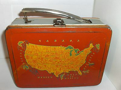 Continental United States`1954`All American Universal.Metal Lunchbox.Free To US