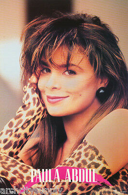Poster : Music : Paula Abdul  - 1990 -   Free Shipping !       #8088      Lw6 N