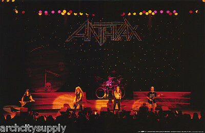 Poster - Music - Anthrax  In Concert 1990 -  Free Shipping !! #p7123  Lw24 F