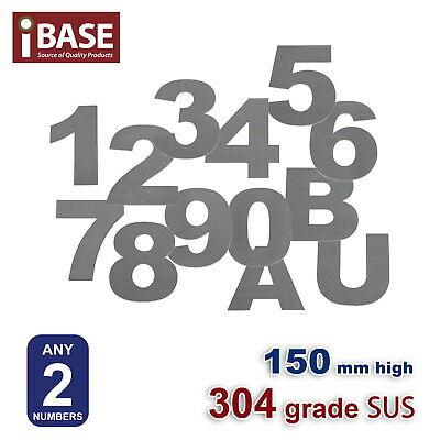 2X 150 Mm House Number Letter Mail Box Numbers Letters 304 Stainless Steel