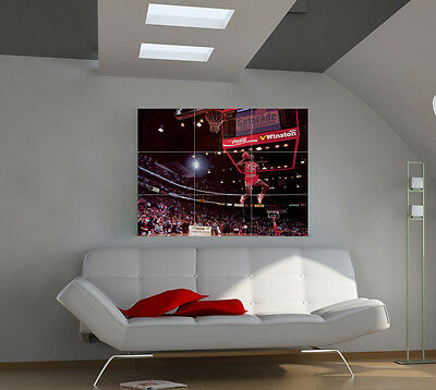 "Michael Jordan Giant Wall Poster Big Art Print 39""x57"" px35"