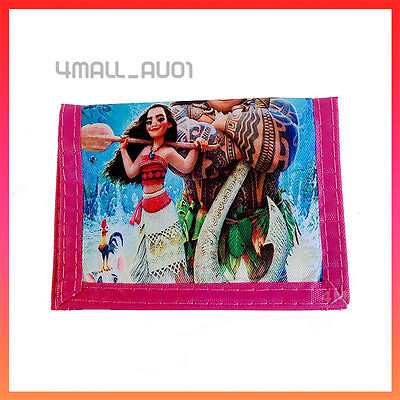 Kids Girls Coin Purse Notecase Wallet Xmas Gift Billfold MoneyBag Moana Maui