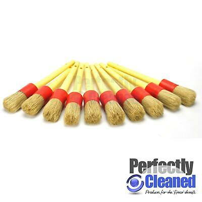 10 x Soft Detailing Brushes for Car Cleaning Vents, Dash, Trim, Seats, Wheels