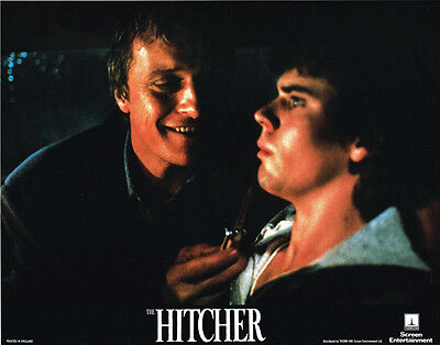 The Hitcher Original 11X14 Lobby Card  C. Thomas Howell Rutger Hauer