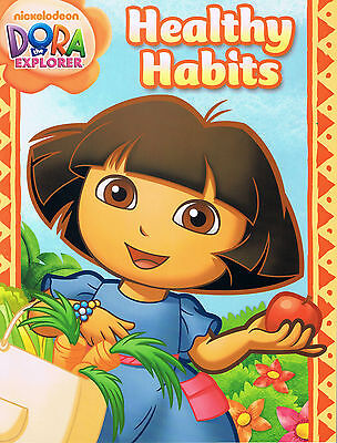 DORA the Explorer HEALTHY HABITS Workbook Being Clean, Eating Right, Exercise ++