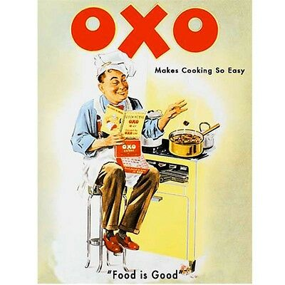 OXO Cooking Chef Food and Drink Cafe Kitchen Classic Retro Small Metal/Tin Sign