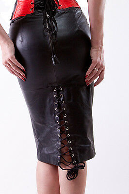 Fetisch Midi  Lederrock / Fetish Leather Midi Skirt.