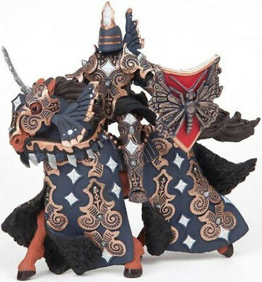 NEW PAPO 38978 Dark Butterfly Warrior Knight with Horse - RETIRED