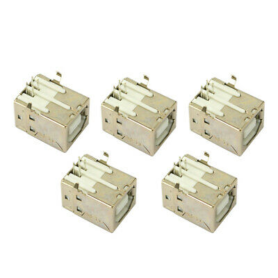 Brand New! 5 pcs USB Port 2.0 Connector Type-B Female Replacement Solder Printer
