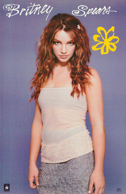 """Poster : Music """" Young Britney Spears - White Top - Free Shipping ! #9027 Lc27 A"""