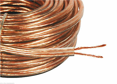 20M 2X 4Mm Thick  Loud Speaker Wire Cable Super High Quality Ofc 2X 40 Strands