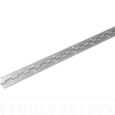 NEW NICKLE PLATED 32mm open Continuous piano hinge.1m/39inch  BARGAIN!!