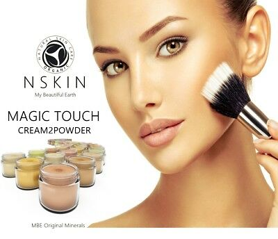 MBE Magic Touch Cream 2 Powder Liquid Mineral Foundation 100% Natural Face Cover