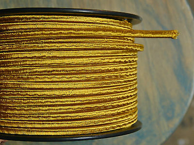Gold 2-Wire Cloth Covered Cord, 18ga. Vintage Style Lamps, Antique Lights, Rayon