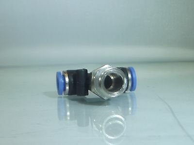 1/4 Bsp Male -10mm Male Thread Centre Swivel Tee                            b133