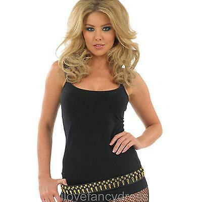 Bullet Belt Army Fancy Dress Fits Uk 8-12 Leather Look Belt With Gold Bullets