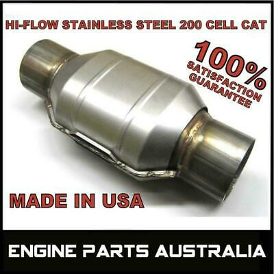 "2.5 "" Inch Stainless Steel 200 Cpsi Hi Flow Cat - Catalytic Converter Rrp$289.00"