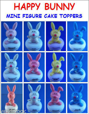 New It's Happy Bunny Mini Figure Collection 13 Different Cake Toppers You Pick!