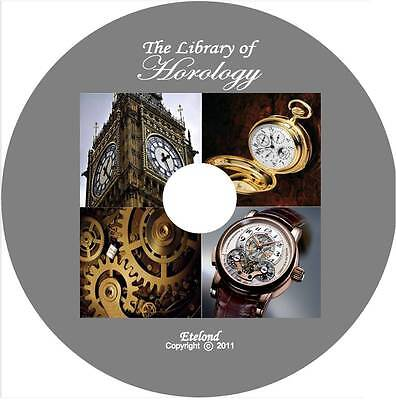 Horology Horlogerie Uhrmacherei How to Make Repair Adjust Clean Clock Watch CD