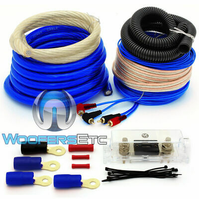 0 GAUGE 5000 WATT CAR PRO COMPLETE AMP WIRE AMPLIFIER INSTALL WIRING KIT O GA