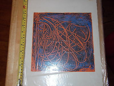 Rare Old Vintage Fancy Art Matted Nice Unknown