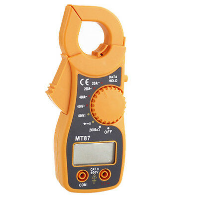 Portable Digital LCD Clamp Ampere AC/DC Voltage Current Ohm Tester Multi-Meter