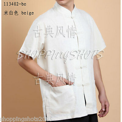 chinese blouse T-shirt clothing shirt for men top 113402 size S--XL in stock