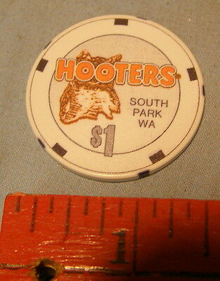 ** HOOTERS -- GENUINE $1.00 CASINO CHIP $1 ** Paulson * Excellent CONDITION **