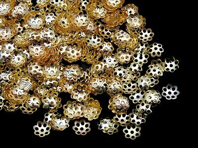 150 x Gold Plated 6mm Bead Caps Jewellery Craft Findings Beading J110