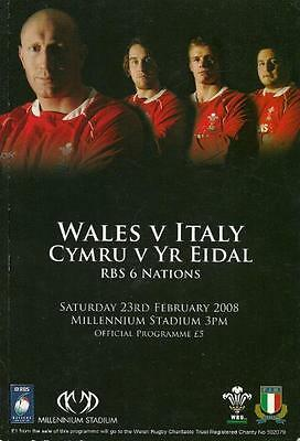 * 2008 RUGBY RBS SIX (6) NATIONS - WALES v ITALY *