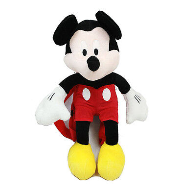 Licensed Disney MICKEY MOUSE PLUSH DOLL BACKPACK Toy Bag NEW!!
