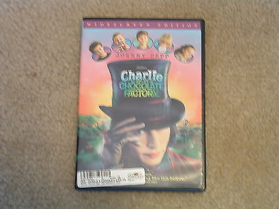 CHARLIE & THE CHOCOLATE FACTORY (2005/WS) DVD JOHNNY DEPP Freddie Highmore